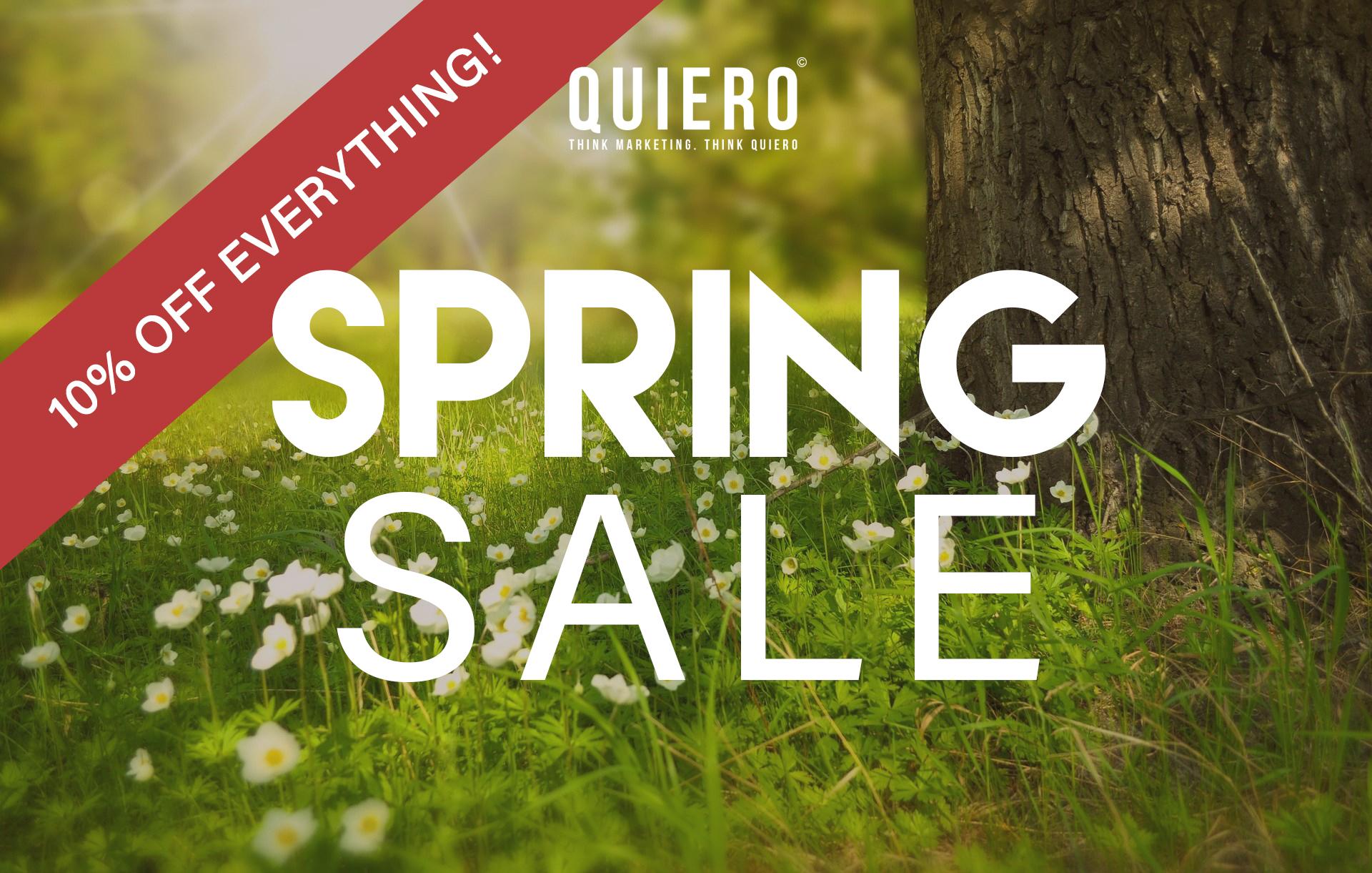 spring sale website design app
