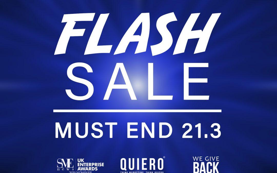 Flash SALE – 25% OFF